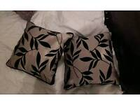 Two dunelm mill flocked cushions