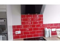 Tiling and tile repairs, painting, decorating and wooden flooring.
