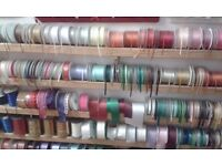 242 Rolls of Double Sided Satin Ribbon plus wedding accessories