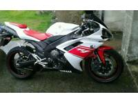 Yamaha R1. 2008, red and white, only 11k miles. Excellent
