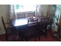 Dining Table & 6 chairs in good condition