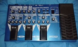 Boss ME-50 multi effects complete with Boss power supply.