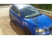 Seat ibza 1.2 petrol 1 years mot has a dent on boot and a few scratches 500 ono