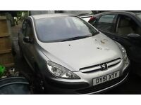2001 Peugeot 307 1.6 GLX 5dr AC EYC EYCC silver BREAKING FOR SPARES