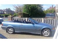 BMW E36 320i convertible, Manual, Classic insurance.