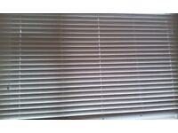 Cream blinds (faux wood)192cm across by 117cm