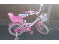 Princess bike with stabilisers