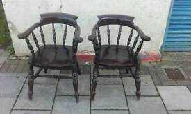 Pair of vintage captains chairs