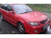 2003 Mazda 323 2.0 Sport 5dr AC red manual BREAKING FOR SPARES
