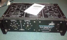 PEAVEY AMPLIFIER MODEL M-2600 600w rack mountable.