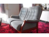 2 Seater sofa, armchair and stool
