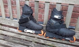 INLINE SKATES VERT-X. BLACK SIZE 8 (42M). RARELY USED IN GOOD CONDITION . COLLECTION REDDITCH B98.