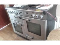 rangemaster cooker, gas hobs electric oven