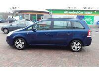 Vauxhall Zafira blue