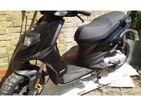 2013 piaggio typhoon 50cc only 2200 miles