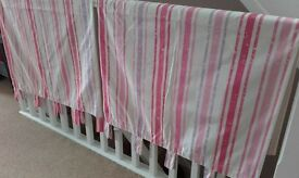 "Pink stripe curtains 66"" x 54"""