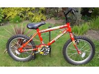 British Eagle Scorch Child's 16 inch Mountain New Bike Red Frame