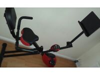 Ancheer Folding Recumbent Exercise Bike, Indoor Cycling with tablet support