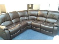Brand new corner leather recliner sofa