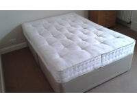 Double Divan Mattress with base and Chest of Drawers