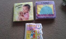 Three wipe clean books
