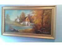Scottish countryside scene oil painting