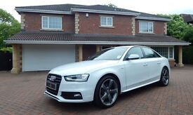 Audi A4 TDI S LINE BLACK EDITION (white) 2013