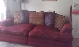 3 & 4 seater large settees £150. Clean condition.