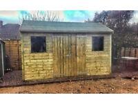 Wooden apex garden shed 12' x 8'