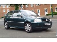 VW POLO 1,4 AUTOMATIC 3 DOOR HATCHBACK GREEN 12 MONTHS MOT SERVICE HISTORY LOW MILES DRIVES MINT