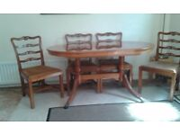 Dining Table & Chairs - Classic Yew 6'6 Extending Table and 6 Chairs