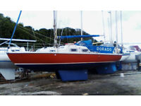 Kingfisher 30 S yacht. 1975 GRP Twin Keels.