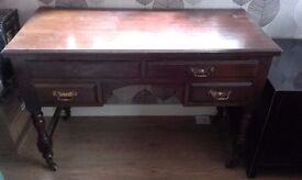 antique desk or dressing table mahogany