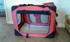 Foldable fabric dog cage