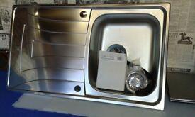 Teka Stainess steel Kitchen sink New c/w Sink drainage Kit.