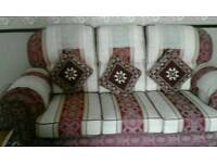 5 piece sofa 3+ 1+1 setter and two stools