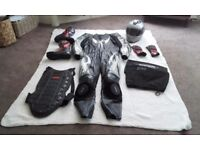 Motorbike leathers, boots, helmet and gloves - Final Price !
