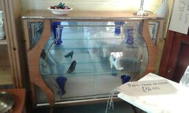 1950s/60 retro glass fronted display cabinet cocktail bar £48.00
