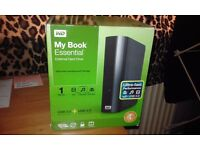 WD MY BOOK Essential External hard drive, brand new, unwanted gift paid £90 so will take £50