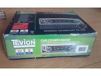 Tevion car CD/MP3 radio with USB & front Aux Input & SD/MMC slot