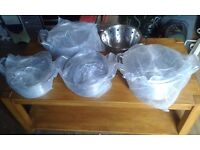 4 large pots and colinder new.rutherglen area.now sold////!!!!!