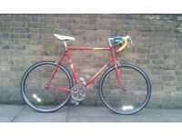 Vintage Singlespeed. Red Peugeot in excelent condition