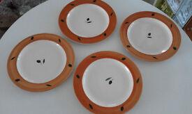 "Poole Pottery ""Fresco"" Dinner Plates x 4"