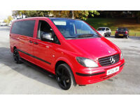 Mercedes Vito 111 Cdi Long superb 8 seater minibus totaly refurbished