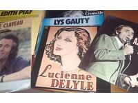 LP's French singers - male, female, duo's, compilations and orchestral .