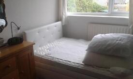 Bed and Mattress small double. fantastic condition nearly new with wide under bed storage