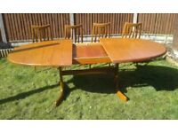 G PLAN FRESCO DINING TABLE & 4 CHAIRS, MID CENTURY