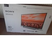 Sony Bravia 40 inch Freeview HD TV