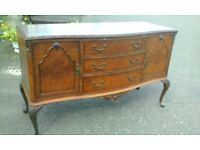 vintage sideboard-dressing table-side cabinet c.1930. C. & J. Brown of Newington (House Furnishers)