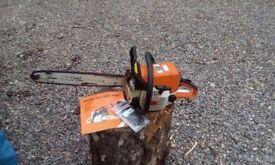 Stihl chainsaw 025 model 18'' bar